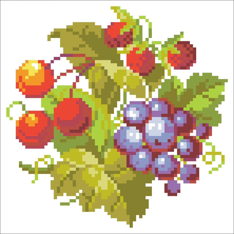 Вышивка фрукты и ягоды, натюрморт Записи в рубрике 18