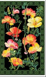 Схема вышивки калифорнийский мак риолис 85